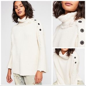 NWT Free People On My Side Pullover Chunky Sweater